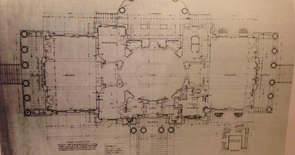 first floor plan vanderbilt mansion classic homes