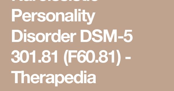 dsm 5 pdf narcissistic personality disorder