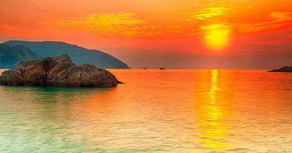 Con Dao, Vietnam with its beautiful sunsets.