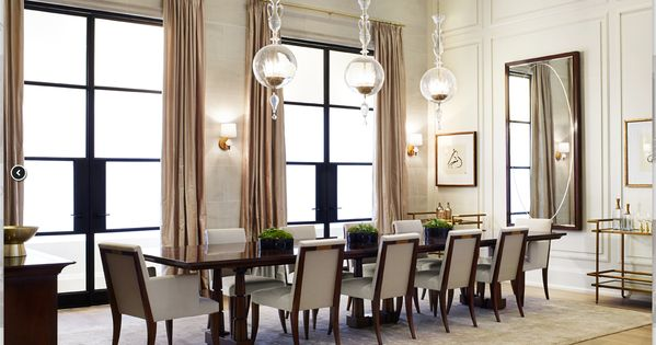 Thomas Pheasant for Baker Furniture featuring the Column Dining Table and Atelier ...
