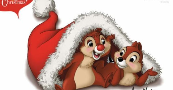 chip and dale christmas tree cartoon
