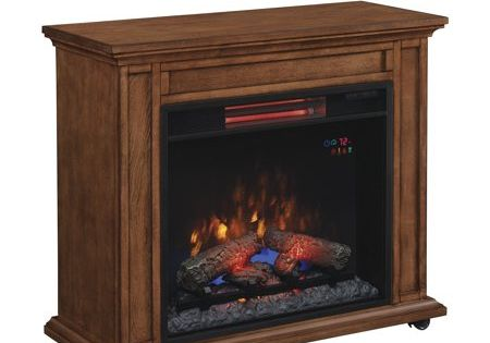 Duraflame Rolling Mantel With Infrared Quartz Fireplace Premium