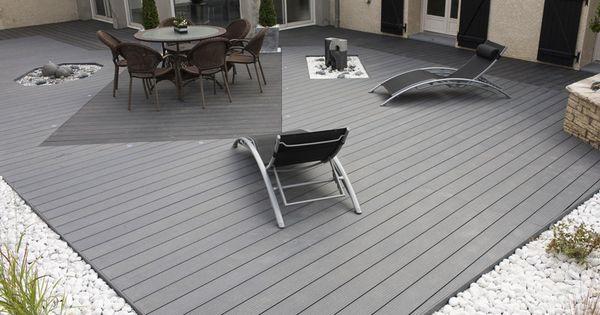 terrasse composite grise ext rieur pinterest terrasse composite terrasse en composite et. Black Bedroom Furniture Sets. Home Design Ideas
