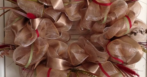 Deco Poly Mesh Wreath Instructions | ... & Crafts - Poly Deco