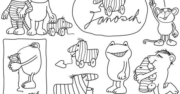 janosch ausmalbild malvorlage diverse figuren i janosch malen pinterest janosch. Black Bedroom Furniture Sets. Home Design Ideas