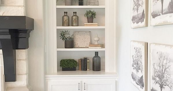 Living Room Shelves Decorating Ideas. Farmhouse Living