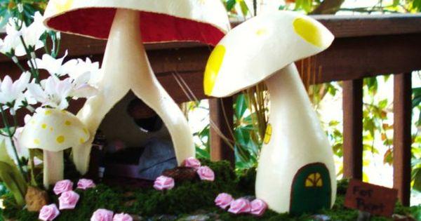 gourd fairy houses   Mushroom fairy house by CassandrasStudio on Etsy