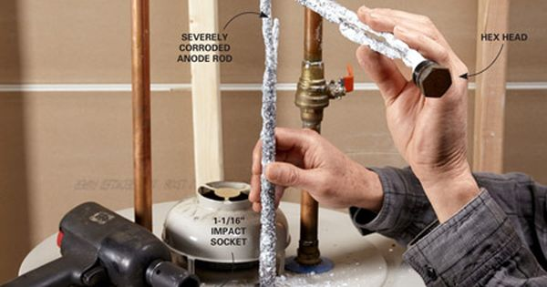 Extend The Life Of Your Water Heater By Replacing The Anode Rod Water Heater Repair Water Heater Water Heater Maintenance