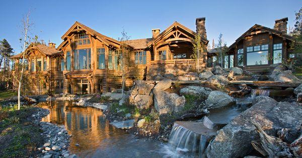 A stream and pond runs through your front lawn gorgeous for Febbre da cabina grande orso lago ca