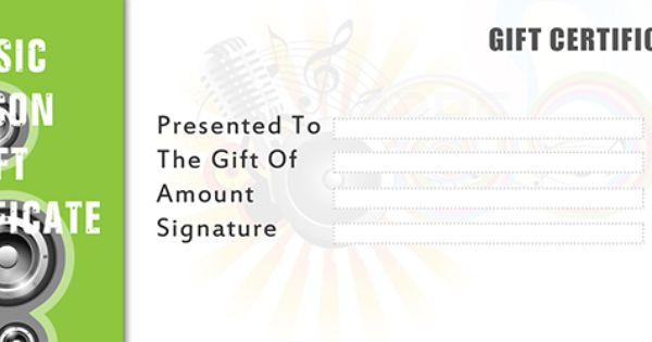gift certificate templates to make your own certificates