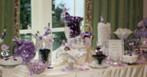 candy table ideas we will have blue purple gold and ivory candy at