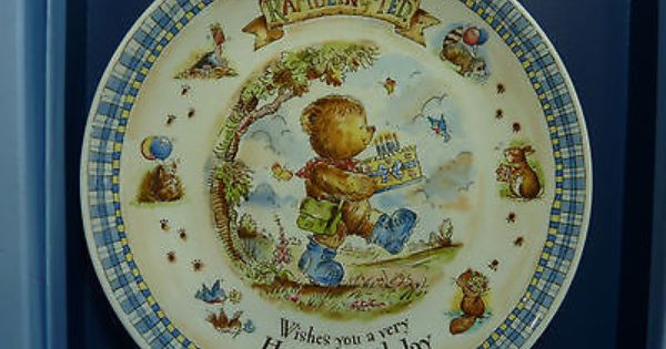 Beautiful Wedgwood Rambling Ted Happy Birthday Plate Excellent Condition Cr Ebay Wedgwood Pottery Birthday Plate Wedgwood