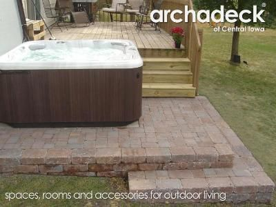 Hot Tub Next To Deck On Patio Hot Tub Hot Tub Deck Hot Tub Designs