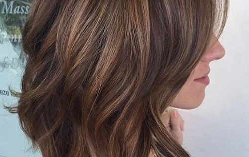 haircut styles for medium long hair layered lob hairstyles highlights shoulder 6606 | 6066d74cd913200e642a89cabfca3480