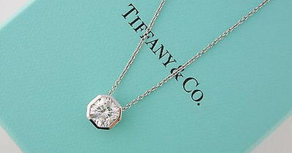 Tiffany Co Platinum 1 00ct I Vvs1 Lucida Diamond Solitaire Pendant Necklace Solitaire Pendant Tiffany Jewelry Jewelry