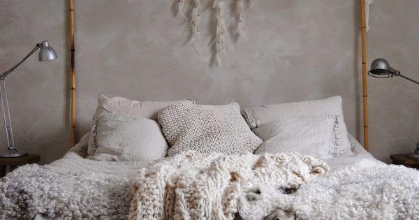 Romantic Boho Bedroom Canopy Bed W Bamboo Sticks