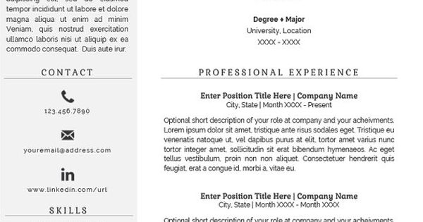 FLASH SALE Professional Resume Template Two Page Resume En-cas - two page resumes