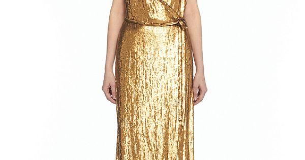 DVF Clarice Dress gold dress
