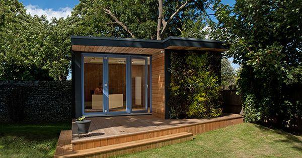 Eden casetas prefabricadas con jard n vertical 1 - Casetas prefabricadas para jardin ...