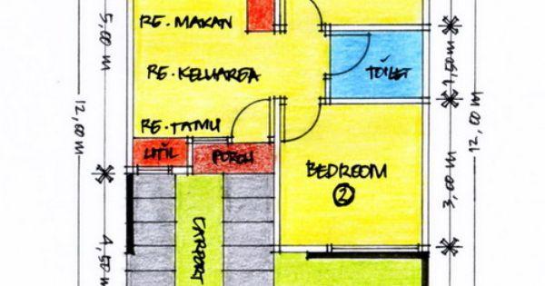layout denah desain rumah minimalis type 36 gambar 614