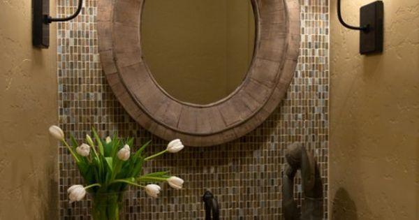 la pared de atras y el espejo bao pinterest polvo fregaderos y lavabos y bao