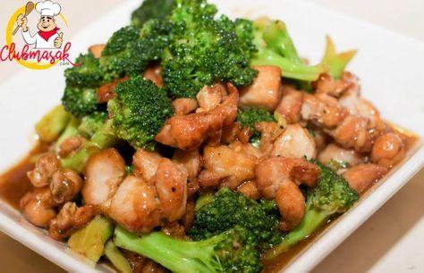 Resep Hidangan Sayuran Tumis Brokoli Ayam Makanan Sehat Untuk Diet Club Masak Low Gi Foods Food Diet Dinner Recipes