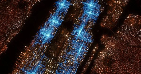 Pizza delivery GPS tracks, New York City