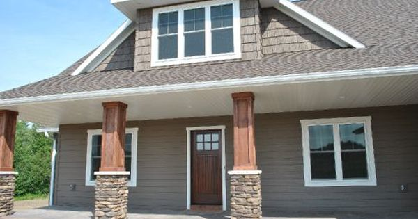 Custom Home Photo Gallery Home Builders In Eau Claire Chippewa Falls Altoona Brick House Colors Gray House Exterior House Exterior
