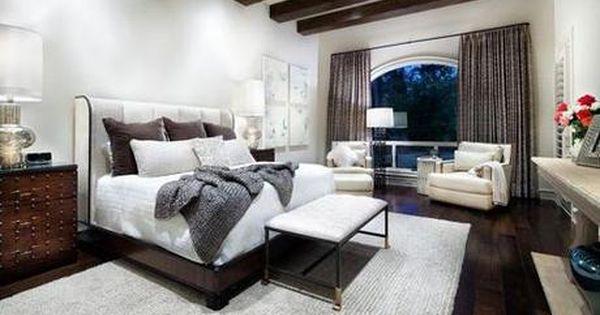 Dark Hardwood Flooring In Master Bedroom Dark Brown Hard Wood Flooring Is Available Contemporary Bedroom Contemporary Bedroom Design Beautiful Bedroom Designs