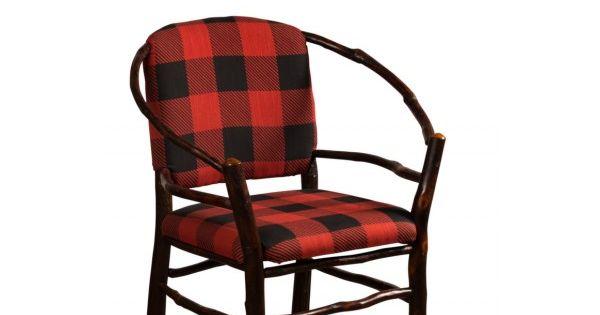 Rustic Chair With Buffalo Plaid Fabric Buffalo Check