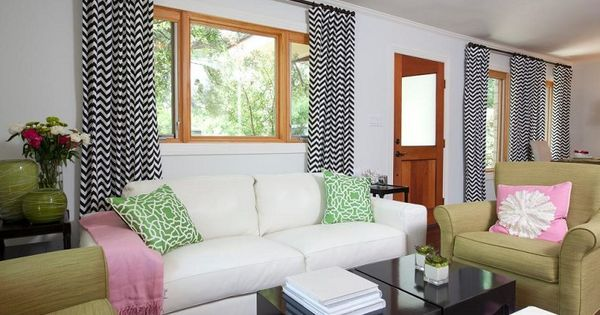 salon pequeno moderno cortinas blanco negro ideas decoracin pinterest