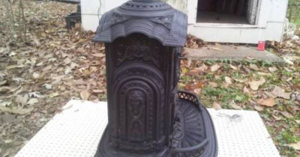 Details About Antique Cast Iron Parlor Wood Stove By Thomas