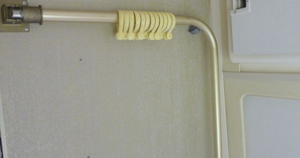Folding Shower Curtain Rod Our Airstream Pinterest