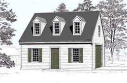 Colonial 1 Car Garage Plan No 432 1 By Behm Design 18 X 24 Garage Plans Garage Plans Free Garage Plan