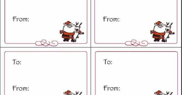 6 Printable Holiday Gift Tags Christmas Cards Thank You Notes And Greeting Cards Squawkfox Christmas Gift Certificate Template Gift Card Template Free Printable Christmas Cards