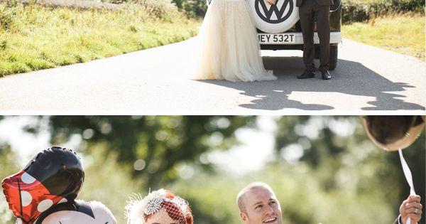 Technicolour DIY Wedding on Bride Bubble real weddings. Disney Minnie and Mickey
