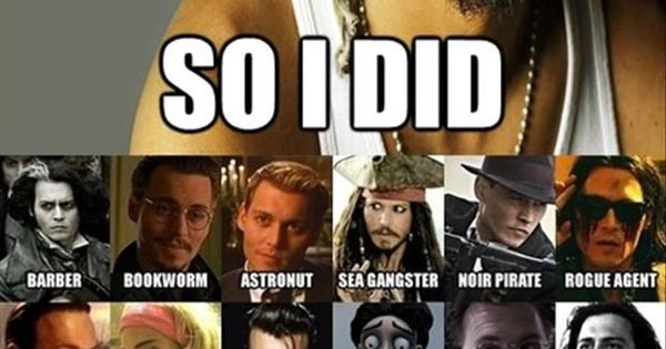 funny caption johnny depp they said i could be anything i ...