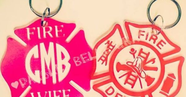 Personalized Custom Monogrammed Firefighter Fire Wife