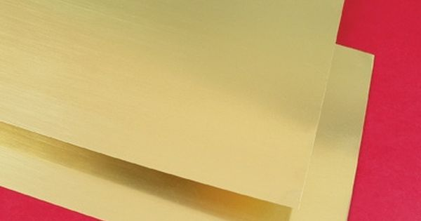 Brass Sheets 6 Inches X 12 Inches X 005 Inch Thick Pkg Of 2 Thick Brass Sheets