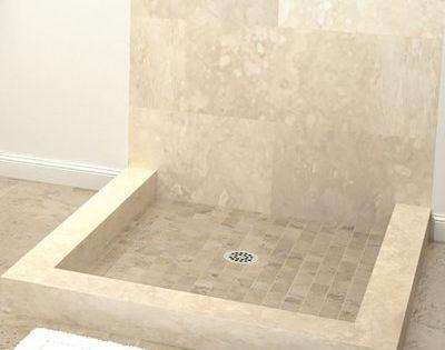 Tile Redi 6 5 H X 42 W X 42 D Muli Curb Shower Pan Triple