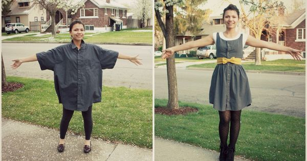Swenson Love: an ugly men's shirt no more! summer dress tutorial!