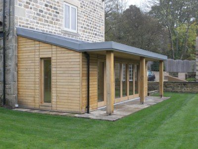wooden extention garden room