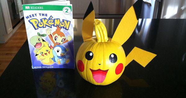 Pokemon Book Character Pumpkin Google Search Halloween Pinterest Book Characters Books