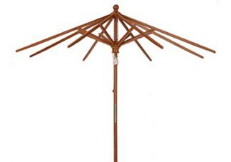 9 wood market umbrella frame only