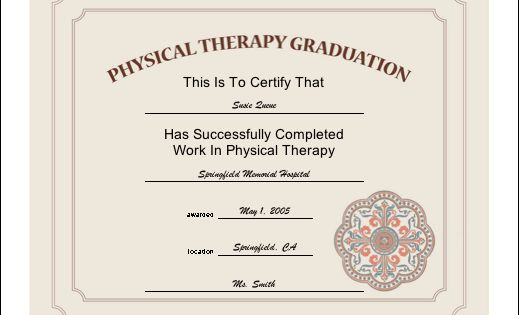 An attractive certificate certifying the completion of a ...