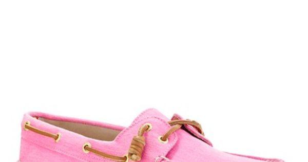 Neon pink sperrys