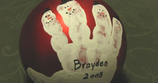 Kids Christmas craft craft-ideas CUTE IDEA - handprint ornament