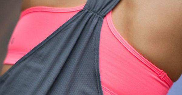 sports bra tank top from lulu. cute workout top!