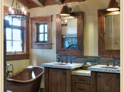 Simple and Rustic Bathroom Design for Modern Home : Classic Rustic Barn