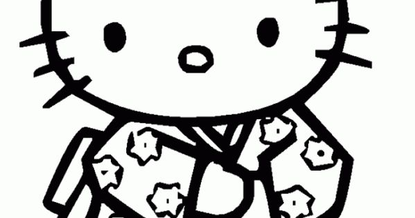 Coloriage Hello Kitty - Dessins A Imprimer Pour Les Moyens
